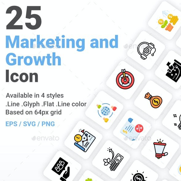 Marketing And Growth Icon Pack