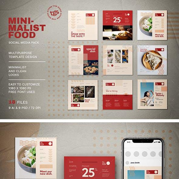 Minimalist Food Social Media Pack