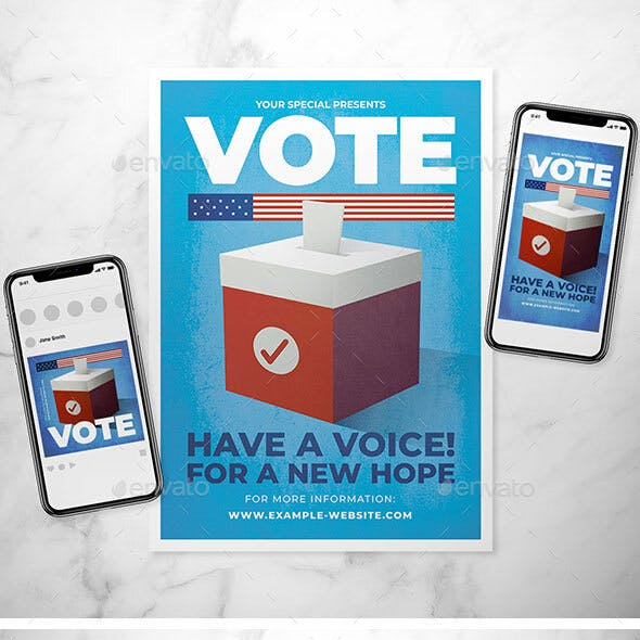 Election Day Flyer Set