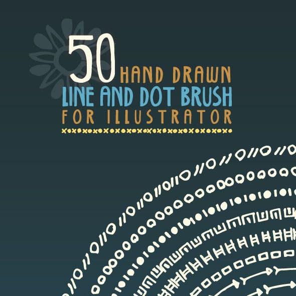 Hand Drawn Line & Dot Brush