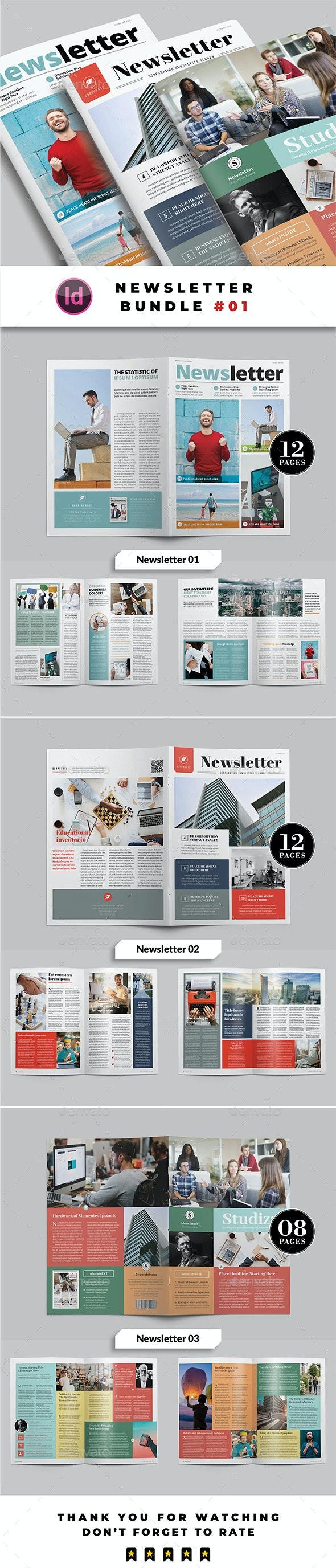 Newsletter Bundle 01 - Newsletters Print Templates