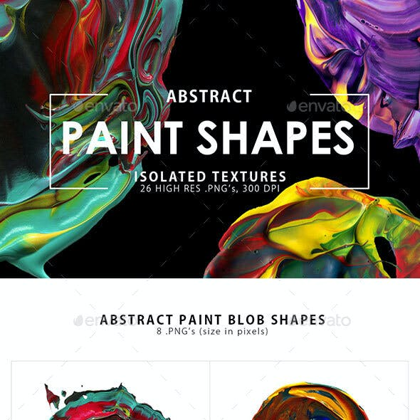 26 Abstract Paint Shapes