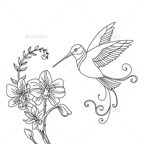 Bird and flower 1