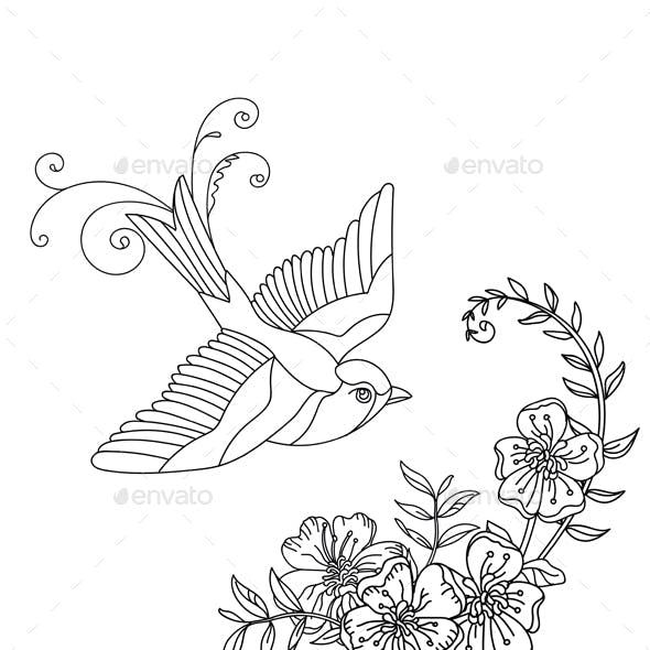 Bird and flower 2