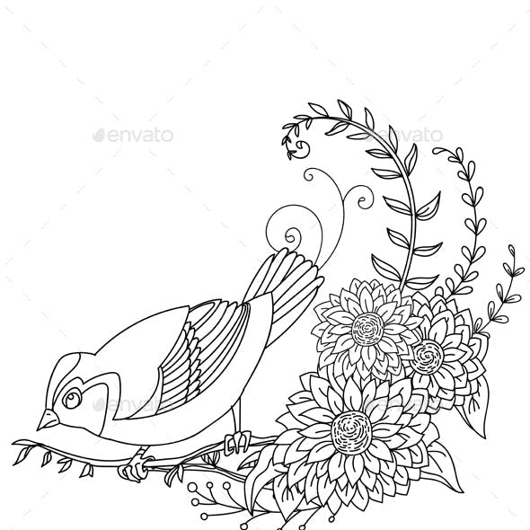 Bird and flower 8