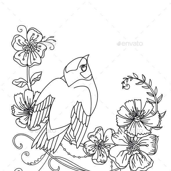 Bird and flower 10