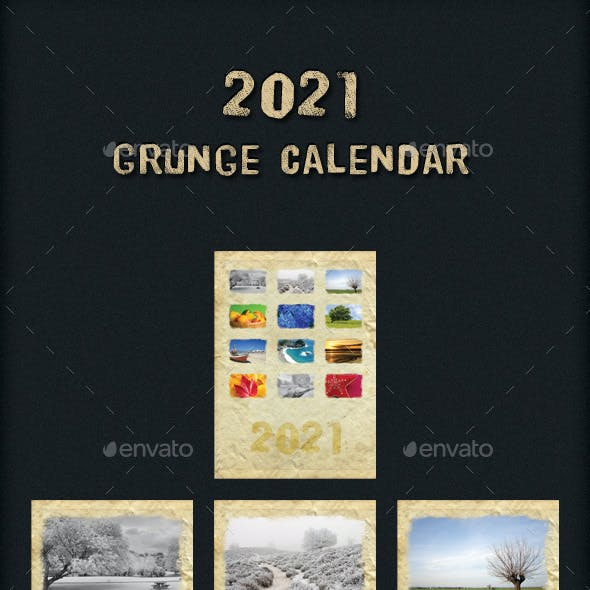 2021 Grunge Calendar