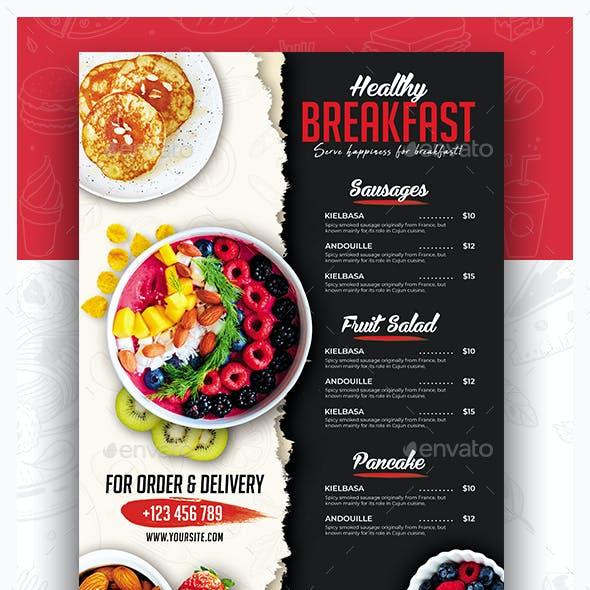 Breakfast Menu Flyer Design