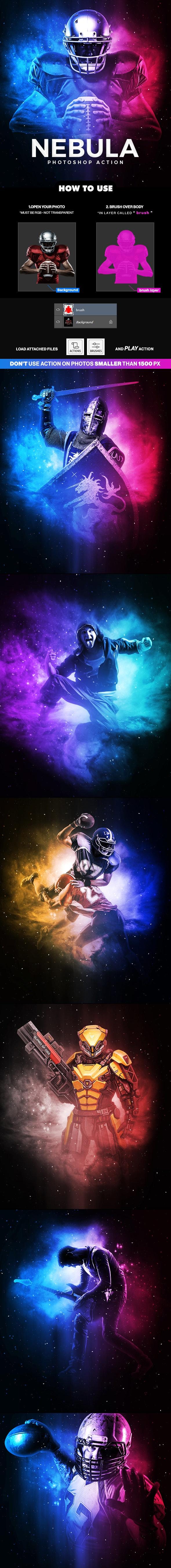 Nebula Photoshop Action - Photo Effects Actions