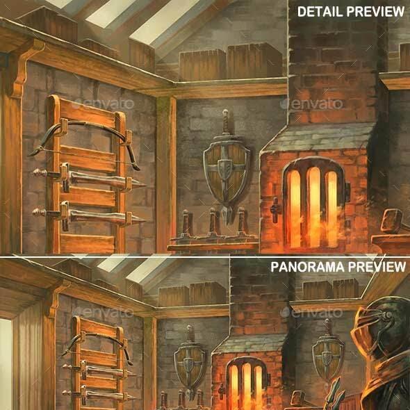 Blacksmith Interior - Game Background