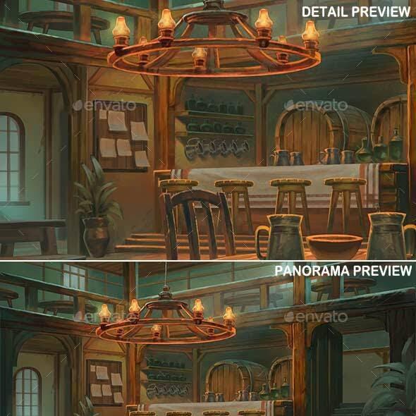 Tavern Interior - Game Background