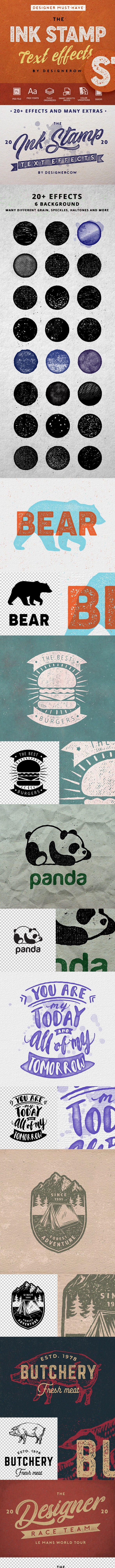 Photoshop Ink Stamp effect - Photoshop Add-ons