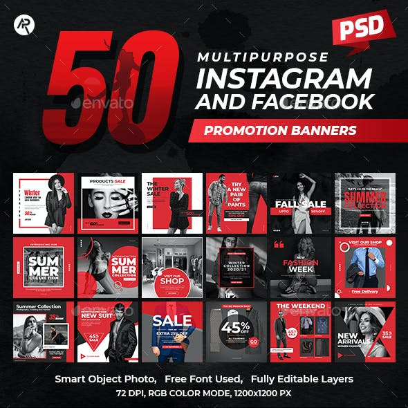 Instagram & Facebook Promotional Banners