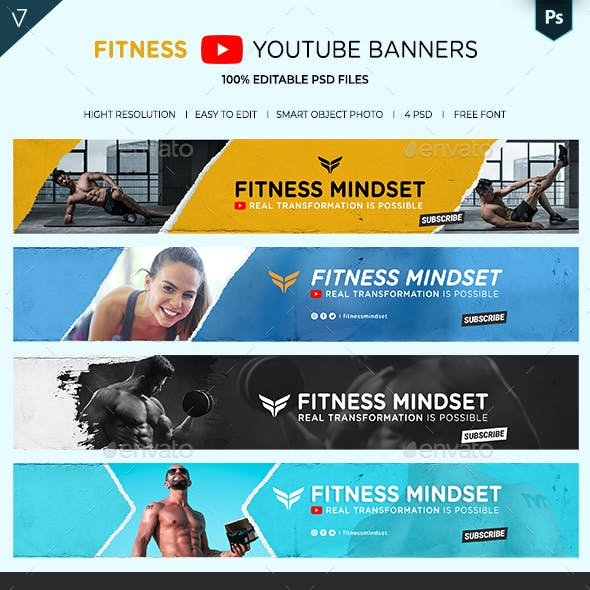 Fitness and Gym YouTube Banner