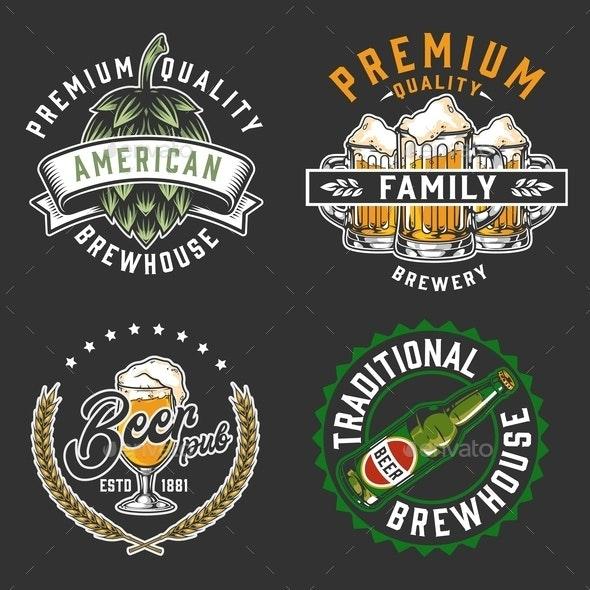 Brewery vintage logos set - Miscellaneous Vectors