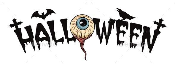 Halloween spooky vintage typographic template - Miscellaneous Vectors