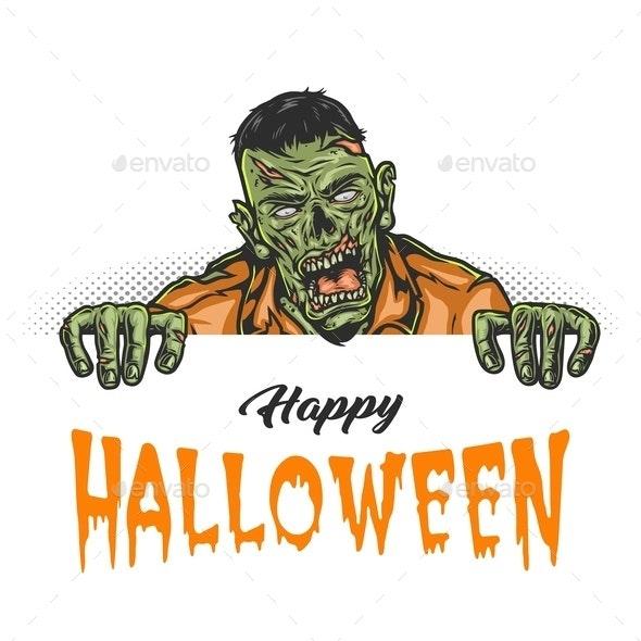 Happy Halloween vintage concept - Miscellaneous Vectors