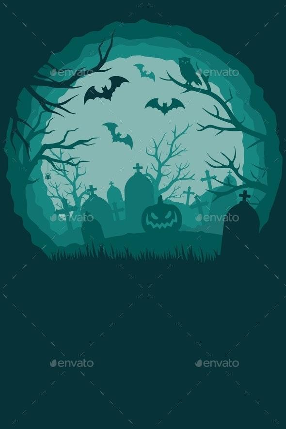Vintage Halloween background - Miscellaneous Vectors