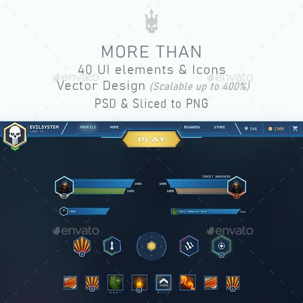 BlueSpace Game UI