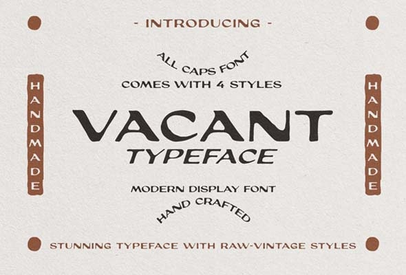 Vacant - Handwriting Fonts