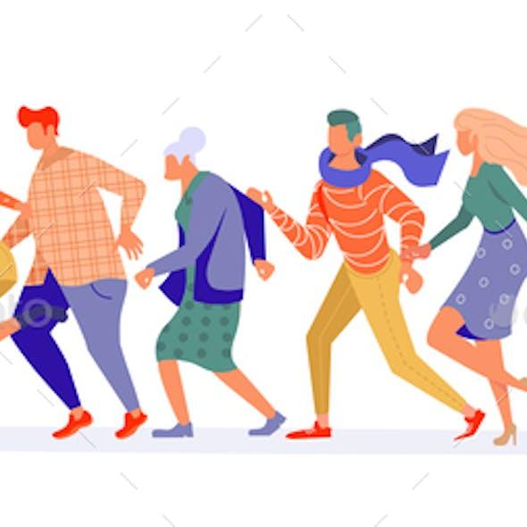 Running People group bunner