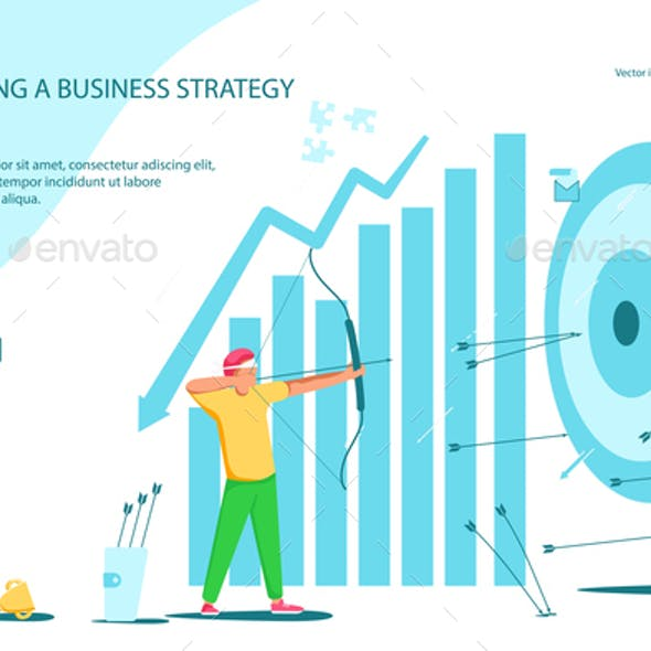 Webpage of business strategy