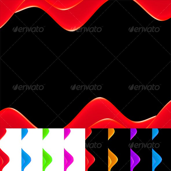 Glossy Wave Backgrounds