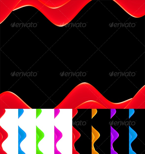 Glossy Wave Backgrounds - Abstract Backgrounds