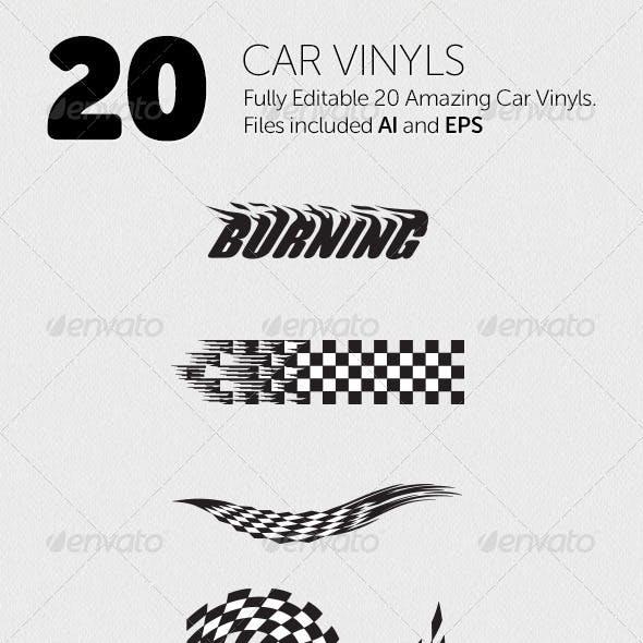 20 Car Vinyls