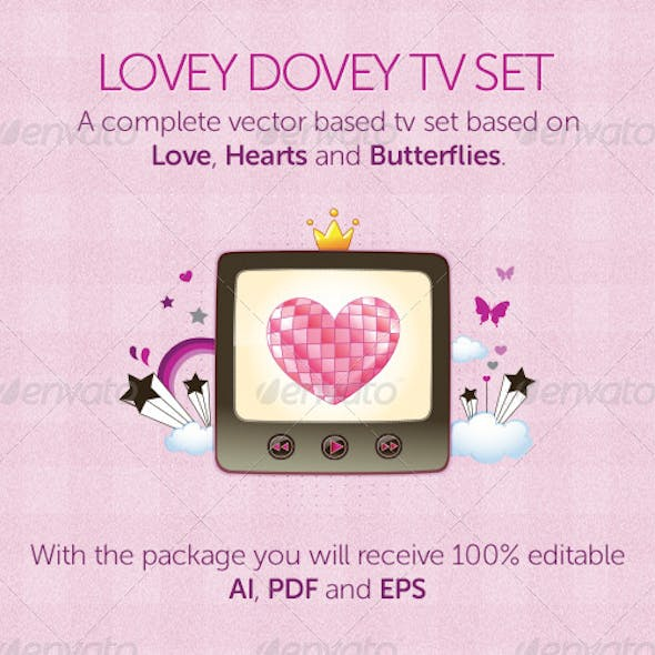 Lovey Dovey TV Set