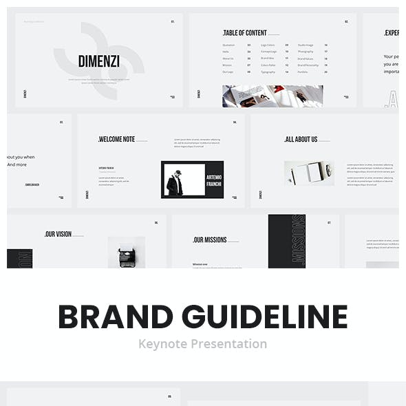 Dimenzi Branding Guidelines Keynote Template