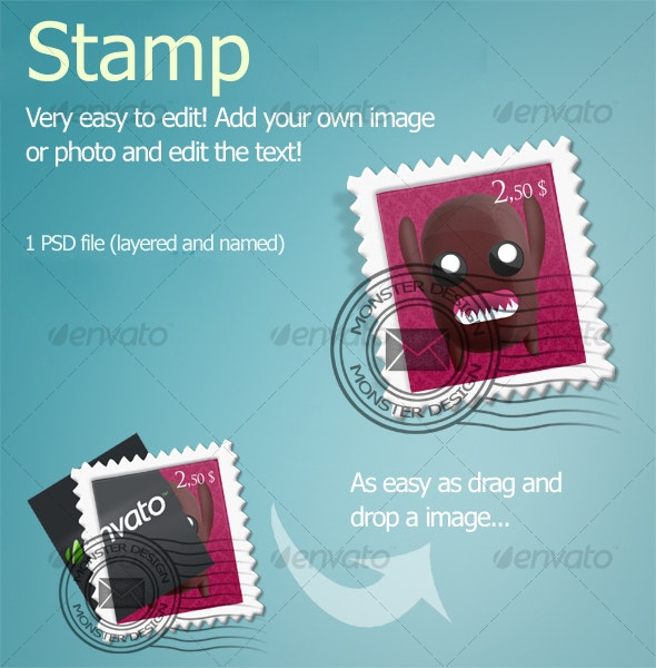 Stamp - Objects Illustrations
