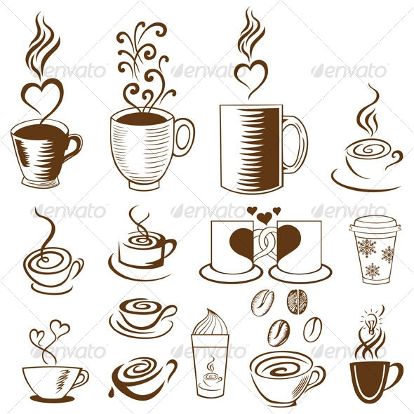 Coffee cups - Decorative Symbols Decorative
