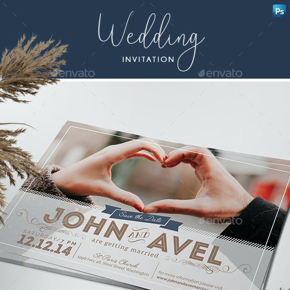 Post Card Wedding Invitation