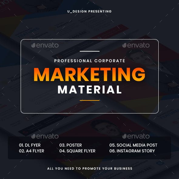 Marketing Material Design Collection
