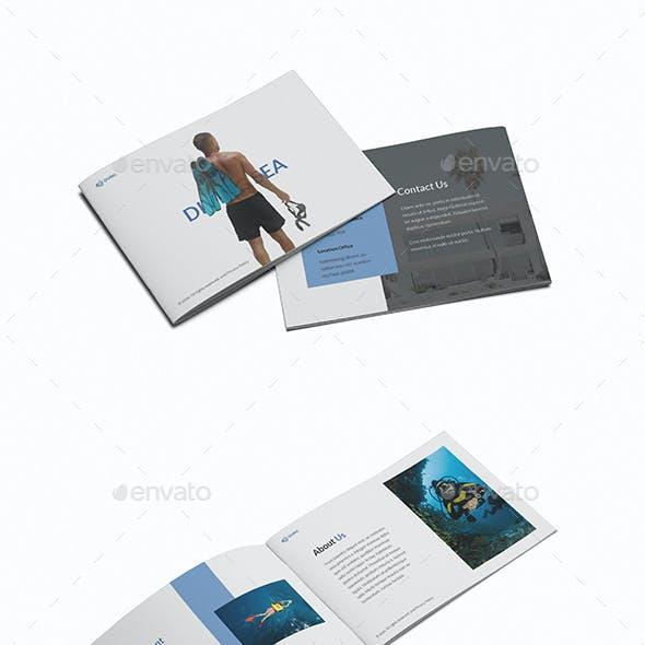 Diving School A5 Brochure Template