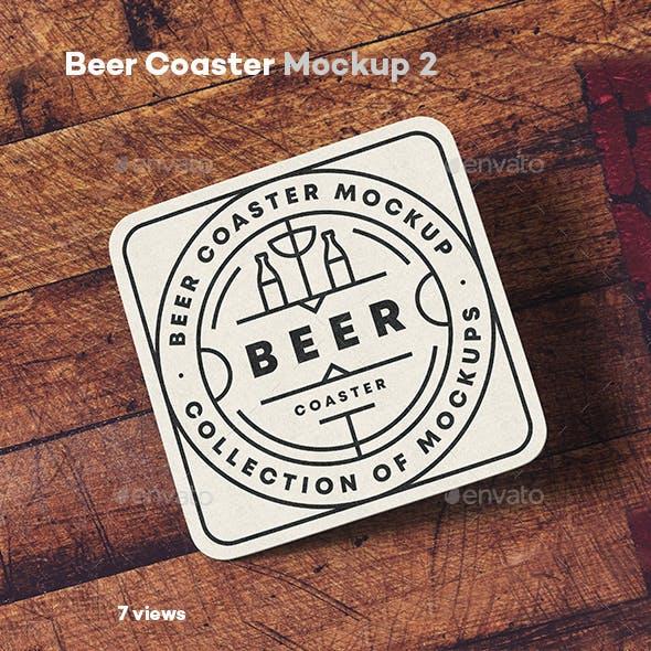 Beer Coaster Mock-up 2