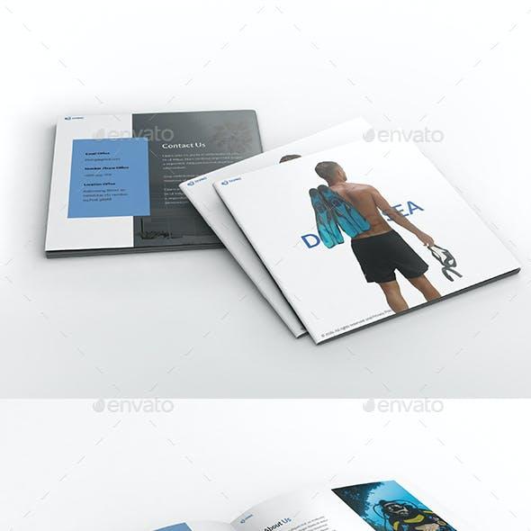 Diving School Square Brochure Template