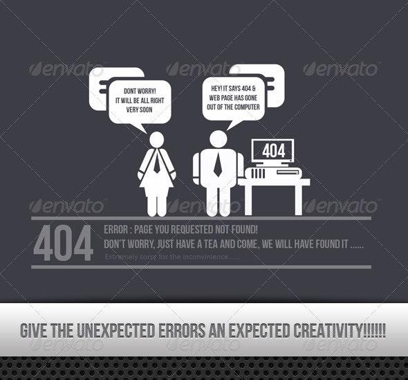 404 Creative Error Found !!!! - 404 Pages Web Elements
