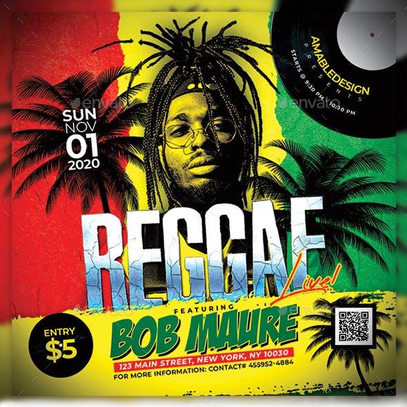 Reggae Live Concert Flyer/Poster
