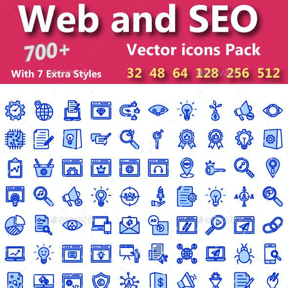 Web & Seo Vector Icons pack