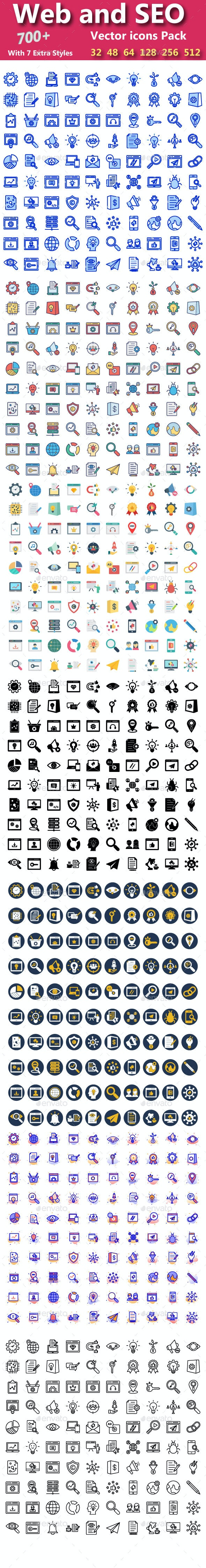 Web & Seo Vector Icons pack - Icons