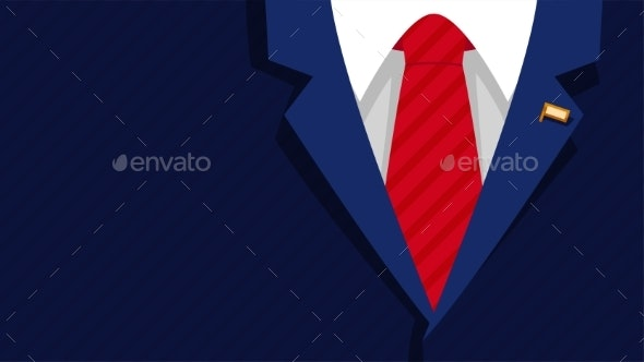 Dark Blue President Formal Suit Red Tie - Miscellaneous Vectors