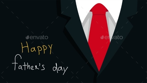 Father Day Dark Background with Red Tie - Backgrounds Decorative