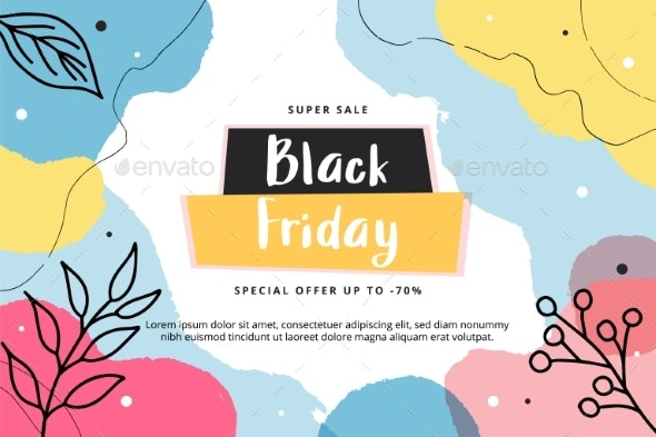 Black Friday Abstract Modern Banner Template - Abstract Conceptual
