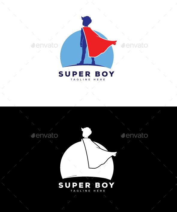 Super Boy Logo - Humans Logo Templates