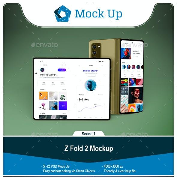 Z Fold 2 Mockup