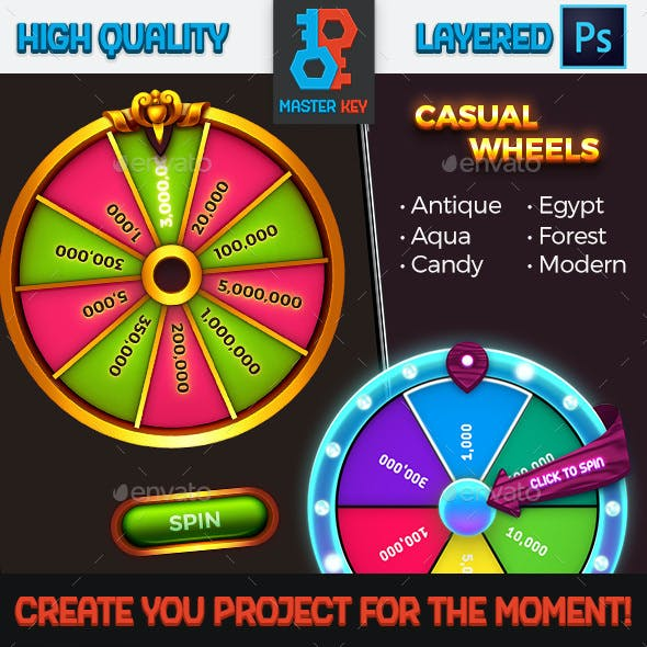 Game Casual Spin Wheels Pack