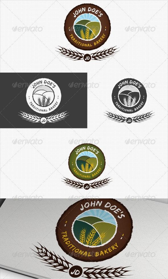 Traditional Bakery or Baking Logo - Nature Logo Templates