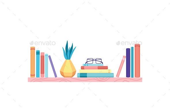 Bookshelves Vector Wall Design for Bestsellers in - Miscellaneous Vectors